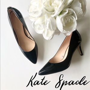 Kate Spade Patent pointed toe heels pumps size 6.5
